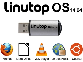 Ext : -  16GB USB Key Linutop OS for PC