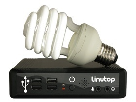 mini PC fanless Linutop 2 energy saver