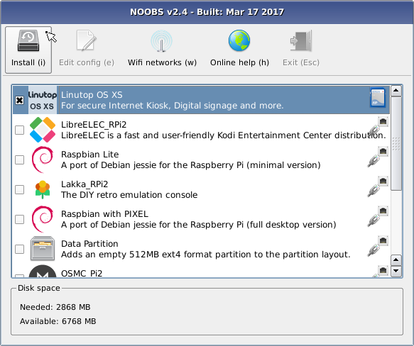 Linutop news : Linutop OS now available in NOOBS format for
