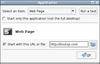 Autostart a webpage